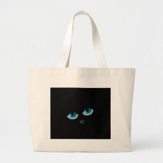 Halloween - black cat large tote bag