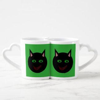 Halloween Black Cat Lovers Mugs