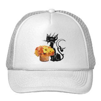 Halloween Black Cat Mesh Hats