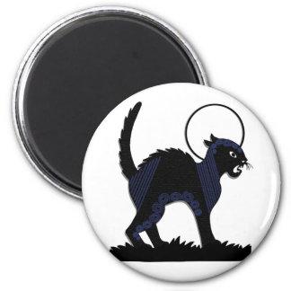 Halloween Black Cat & Moon - 54 Refrigerator Magnet