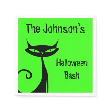 Halloween Themed Halloween Black Cat Napkin