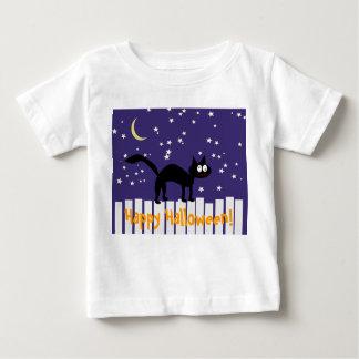 Halloween Black Cat on Fence Infant T-shirt