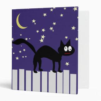 Halloween Black Cat on Fence Vinyl Binders