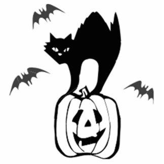 Halloween Black Cat on Pumpkin Cut Outs