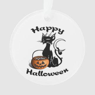 Halloween Black Cat Ornament
