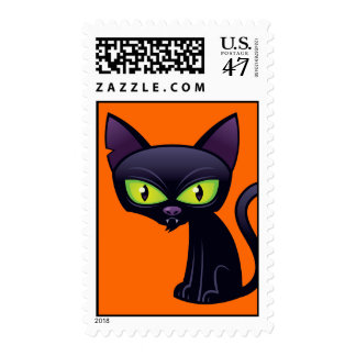 Halloween Black Cat Postage