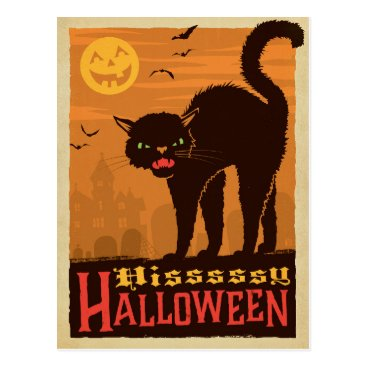 Halloween Themed Halloween Black Cat Postcard