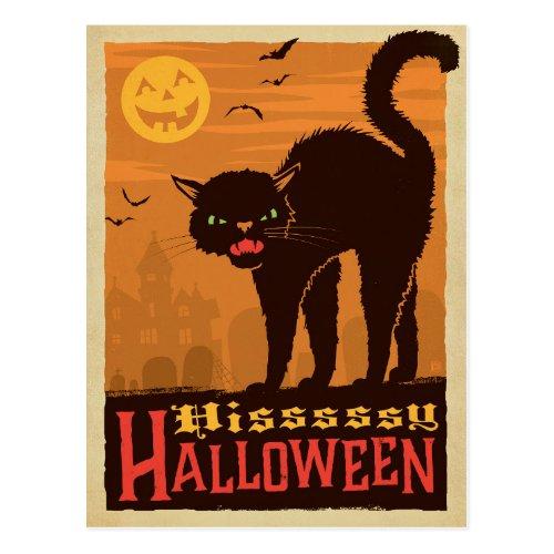 Halloween Black Cat Postcard