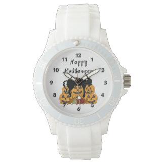 Halloween Black Cat Pumpkins Wrist Watch