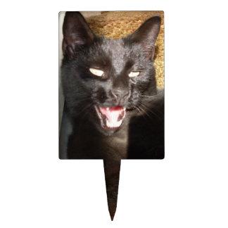 HALLOWEEN BLACK CAT SCREECH topper Cake Pick