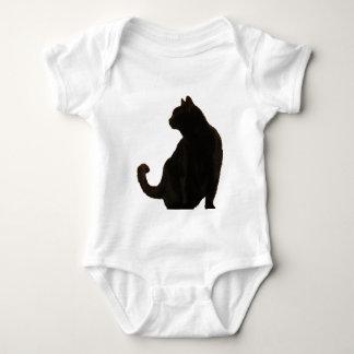 Halloween Black Cat Silhouette Baby Bodysuit
