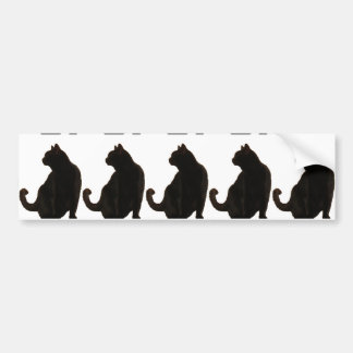 Halloween Black Cat Silhouette Bumper Sticker