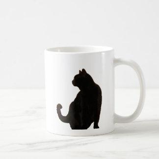 Halloween Black Cat Silhouette Coffee Mug