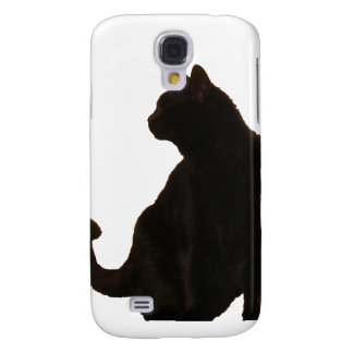 Halloween Black Cat Silhouette Galaxy S4 Case