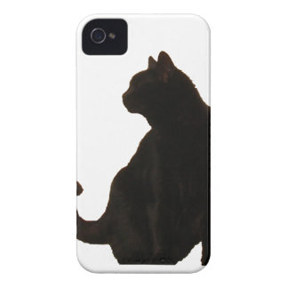 Halloween Black Cat Silhouette iPhone 4 Case