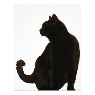 Halloween Black Cat Silhouette Letterhead