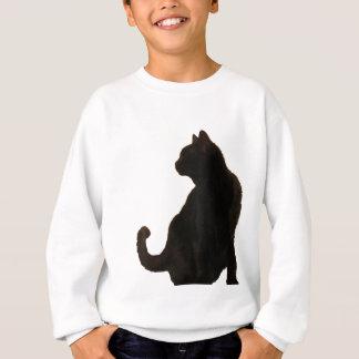 Halloween Black Cat Silhouette Sweatshirt