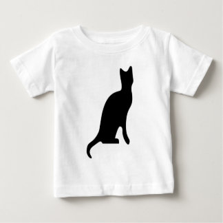 Halloween Black Cat Smooth Silhouette Baby T-Shirt