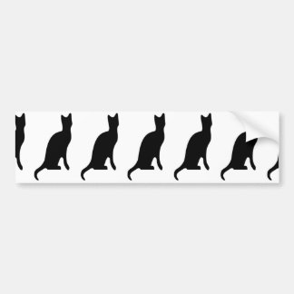 Halloween Black Cat Smooth Silhouette Bumper Sticker