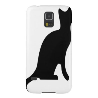 Halloween Black Cat Smooth Silhouette Case For Galaxy S5