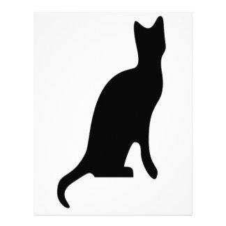 Halloween Black Cat Smooth Silhouette Letterhead