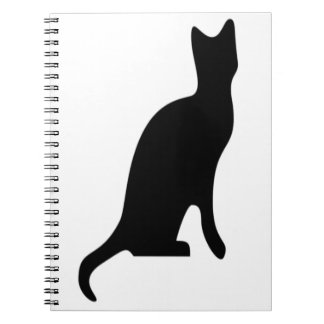 Halloween Black Cat Smooth Silhouette Note Books