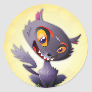 Halloween Black Cat Sticker