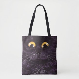 Halloween Black Cat Trick-Or-Treat Bag Spider