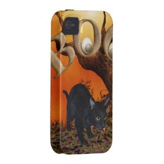 Halloween Black Cat Vibe iPhone 4 Case