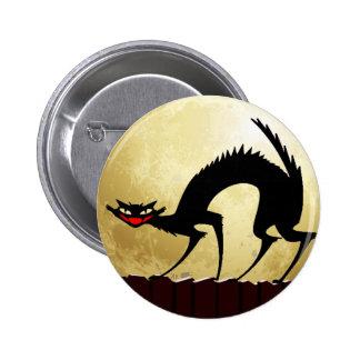 Halloween Black Cat w/Full Moon Pin