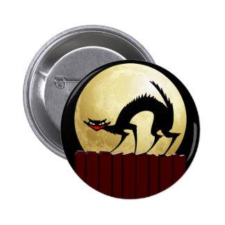 Halloween Black Cat w/Full Moon Pins