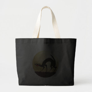 Halloween Black Cat w/Full Moon Tote Bags