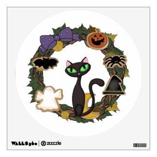 Halloween Black Cat Wall Graphic