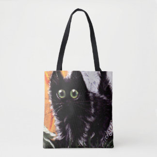 Halloween Black Cat Who Dat Scaredy Cat Bag
