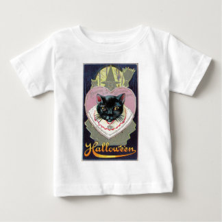 Halloween Black Cat Witch Charm Spell Vintage Baby T-Shirt
