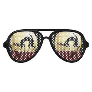 Halloween Black Cat with Full Moon Sunglasses