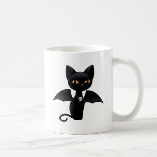 Halloween Black Cat with Wings Coffee Mug