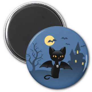 Halloween Black Cat with Wings Magnet