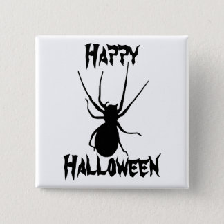 Halloween Black Creepy Spider Button