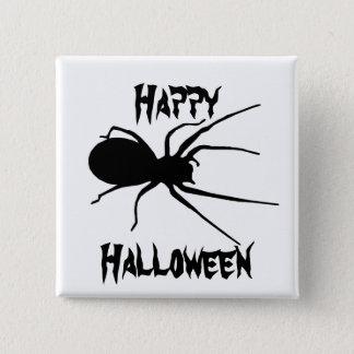 Halloween Black Creepy Spider Button