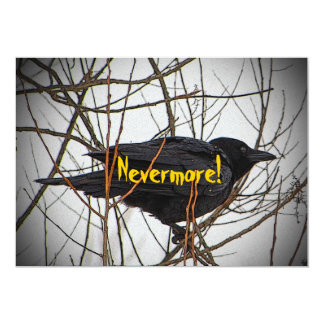 Halloween Black Crow Invitation