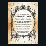 "Halloween Black Gothic Spider Frame Party Invite<br><div class=""desc"">Spooky frame party invite. Perfect for a Halloween Party,  Cocktail Party,  Spooktacular Dinner Party,  etc. CHANGE THE TEXT TO SUIT YOUR PARTY &amp; Back print included.</div>"