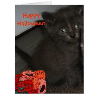 HALLOWEEN BLACK KITTEN card