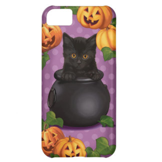 Halloween Black Kitty Cover For iPhone 5C