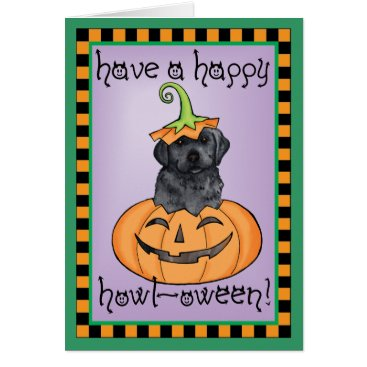 Halloween Themed Halloween Black Lab Card