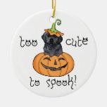 Halloween Black Lab Ceramic Ornament