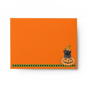 Halloween Themed Halloween Black Lab Envelope