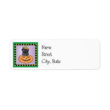 Halloween Themed Halloween Black Lab Label