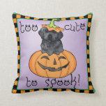 Halloween Black Lab Pillow