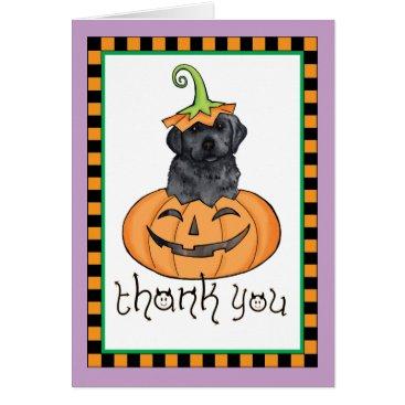 Halloween Themed Halloween Black Lab Thank You Card